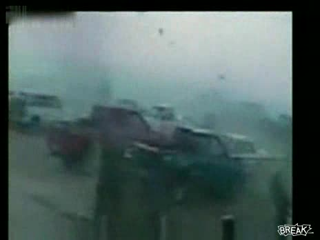 Parking Lot Destroyed by Tornado