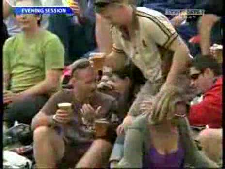 Drunk Cricket Fan